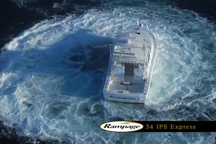 Rampage Yachts 34 IPS Express Sportfishing Mode