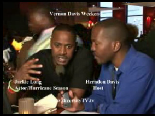 Interview with actor, Jackie Long, during the Vernon Davis Weekend