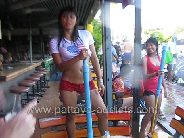 Thai Girls of Songkran: Wet T-Shirt Pattaya, Thailand
