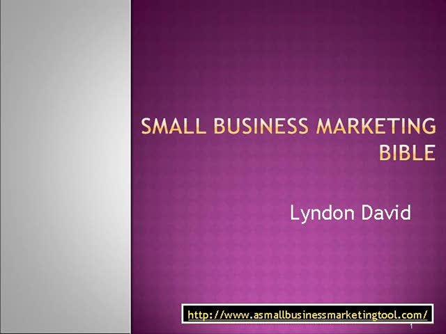 Small Business Marketing Bible