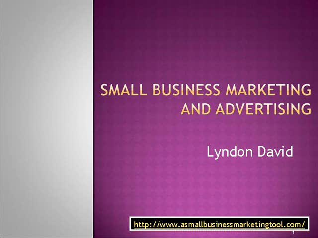 Small Business Marketing and Advertising