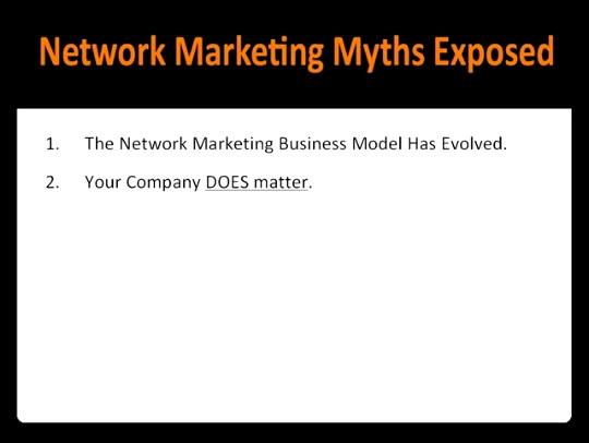 5 Network Marketing Myths