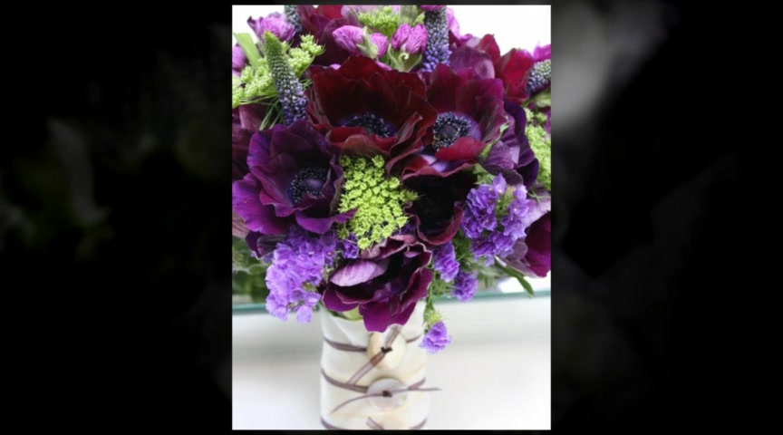 Ideas for Purple Wedding Flowers