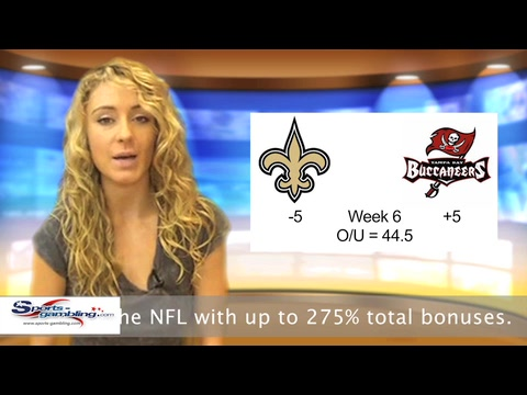 Saints vs Buccaneers Free Online NFL Sportsbook Odds