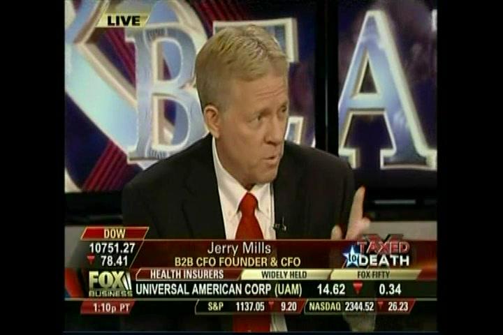 B2B CFO® CEO Jerry Mills on Fox Business-Tax Hikes