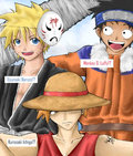 Bleach, Naruto, One Piece