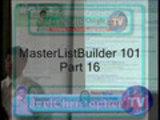MasterListBuilder 101
